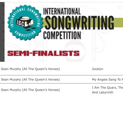 All The Queens Horses - Semi-Finalist International Songwriting Competition